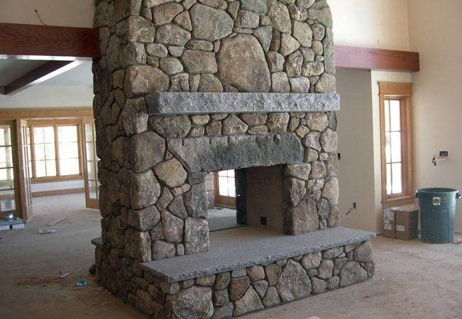 Pass Through Fireplace Fieldstone