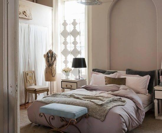 Pastel Pink Cream Luxury Bedroom Decorating Ideas