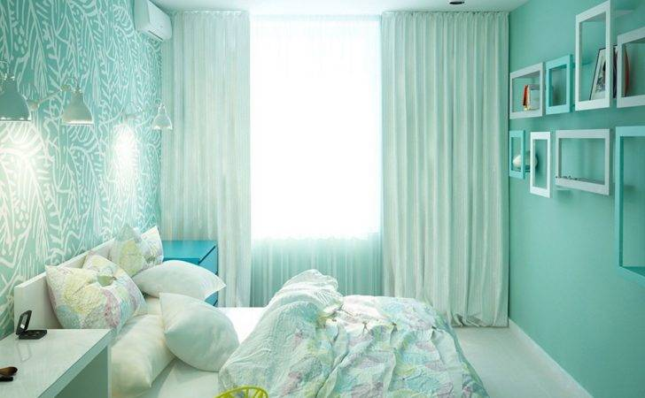 Pastel Seafoam Green Purple Bedrooms