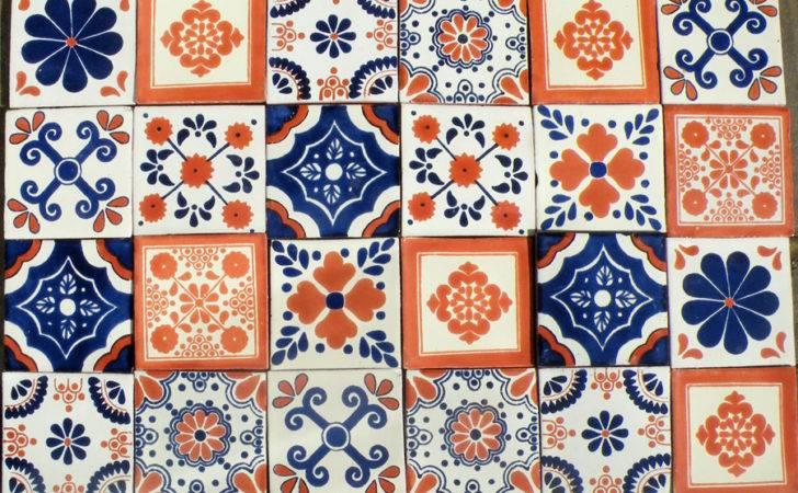 Patchwork Blue Terracotta Tiles