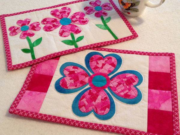 Patchwork Love Mug Rugs Aiming Accuracy Pattern