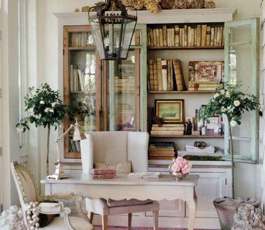 Patina Style Sunroom Office Space