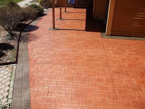 Patio Concrete Designs Paint Stain