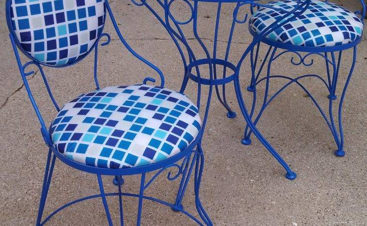Patio Furniture Gliders Well Vintage Wrought Iron