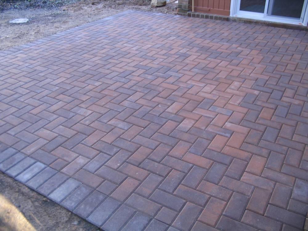 Patio Herringbone Pattern Patios Bricks Pic Driveway