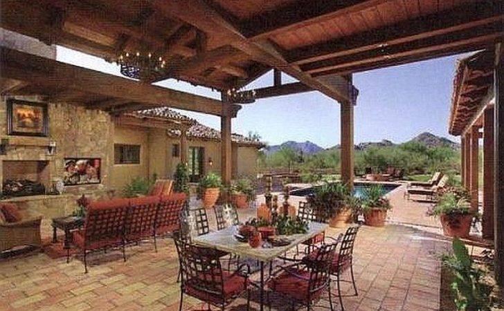 Patio Southwestern Spanish Design Garden Beautiful Ideas