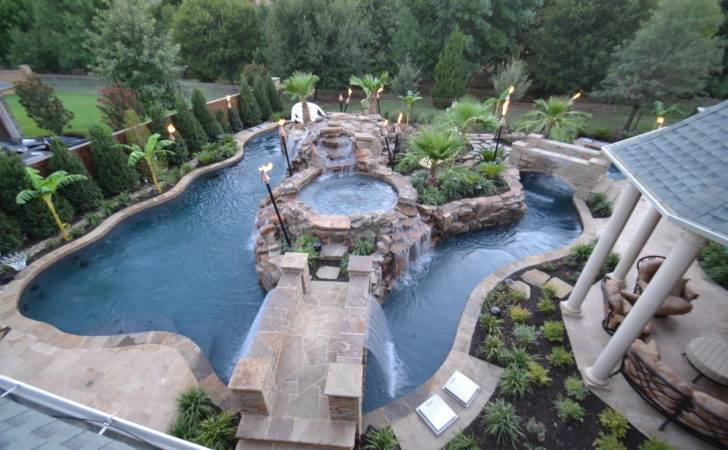 Patio Top Large Backyard Lazy River Pool Design Small