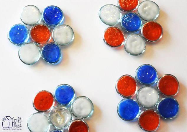 Patriotic Glass Gem Coasters Hometalk
