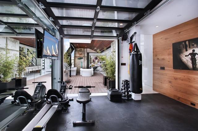 Patterson Construction Brandonarch Contemporary Home Gym