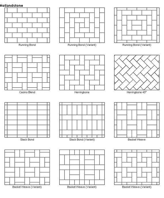Paver Patio Designs These Would Also Make Great Quilt Layout