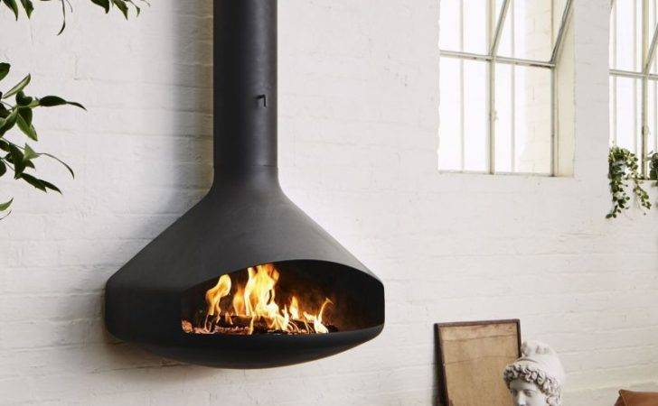 Paxfocus Suspended Wall Mounted Fireplace