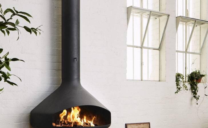 Paxfocus Wall Hanging Open Fireplace Oblica Designer Fireplaces