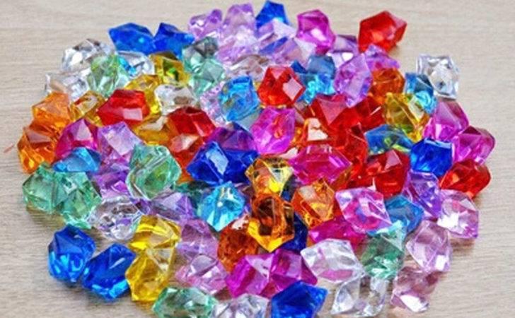 Pcs Acrylic Crystal Ice Rock Stones Aquarium Vase
