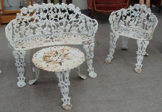 Pcs Antique Cast Iron Garden Furniture Includes Benc Lot