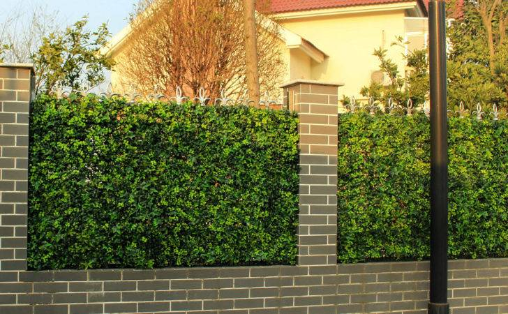 Pcs Artificial Boxwood Hedges Panels Outdoor Plastic Ivy