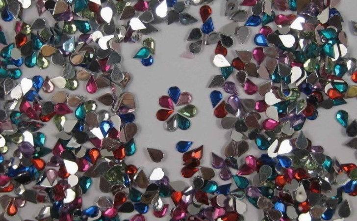 Pcs Teardrop Crystal Rhinestone Flatback Gem