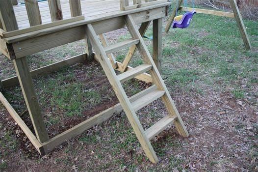 Pdf Plans Playhouse Ladder Design Plain Wood Plaque