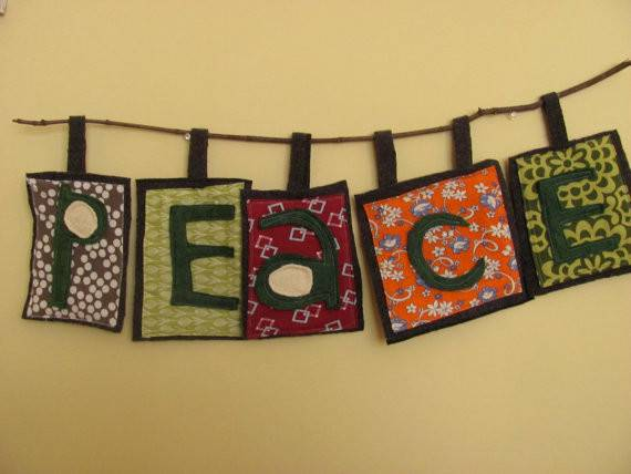 Peace Banner Example Bmoblo Etsy