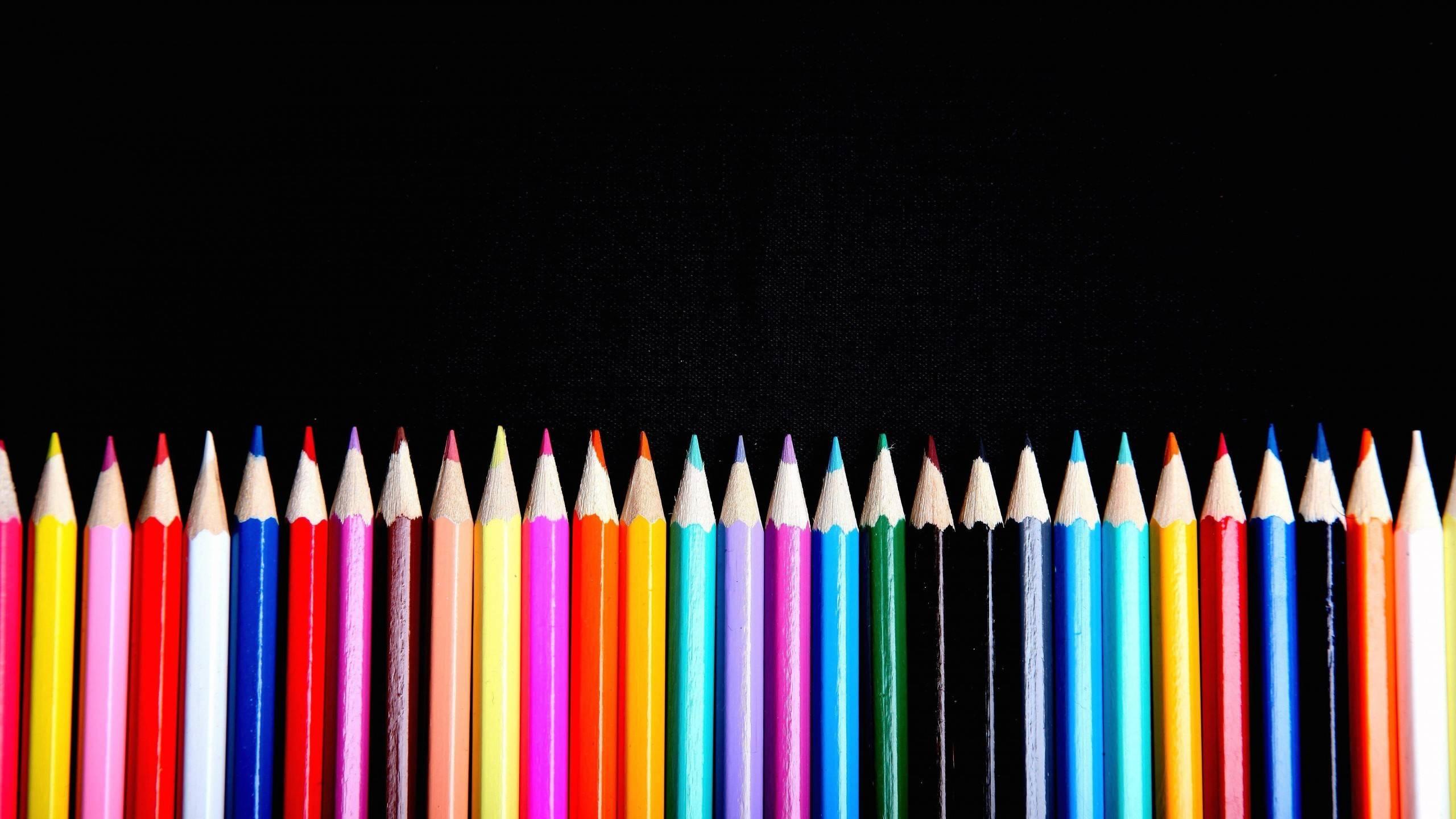 Pencil Border Colorful Craft Uhd