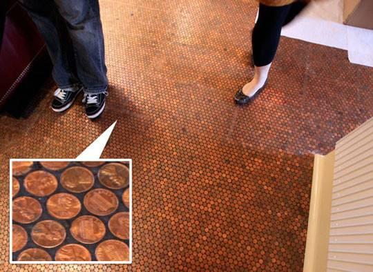 Penny Floor Tile Template Pennies Standard
