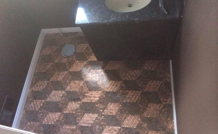 Penny Floor Tile Template Pennies