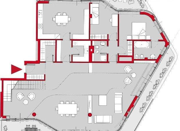 Penthouse Apartment Plan House Barn Pinterest