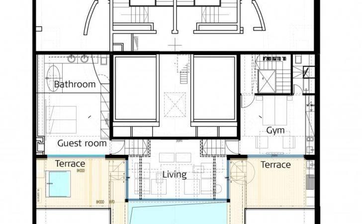 Penthouse Floor Plan Interior Design Ideas