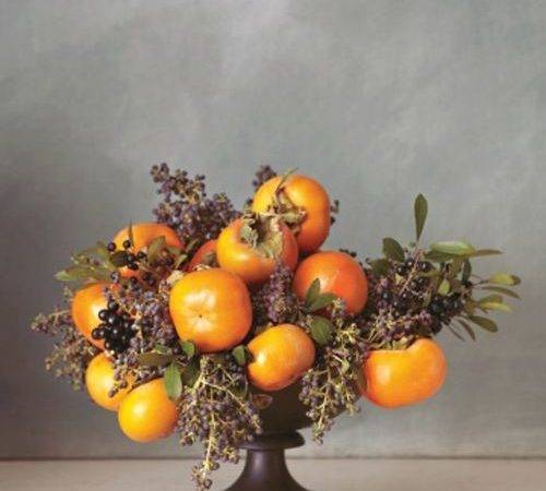 Persimmons Privet Berries Flower Arrangements Pinterest