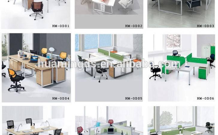 Person Modern Design Wooden Office Workstation Layout Buy