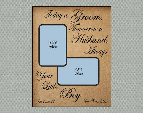 Personalized Frame Mat Wedding Gift Parents Today