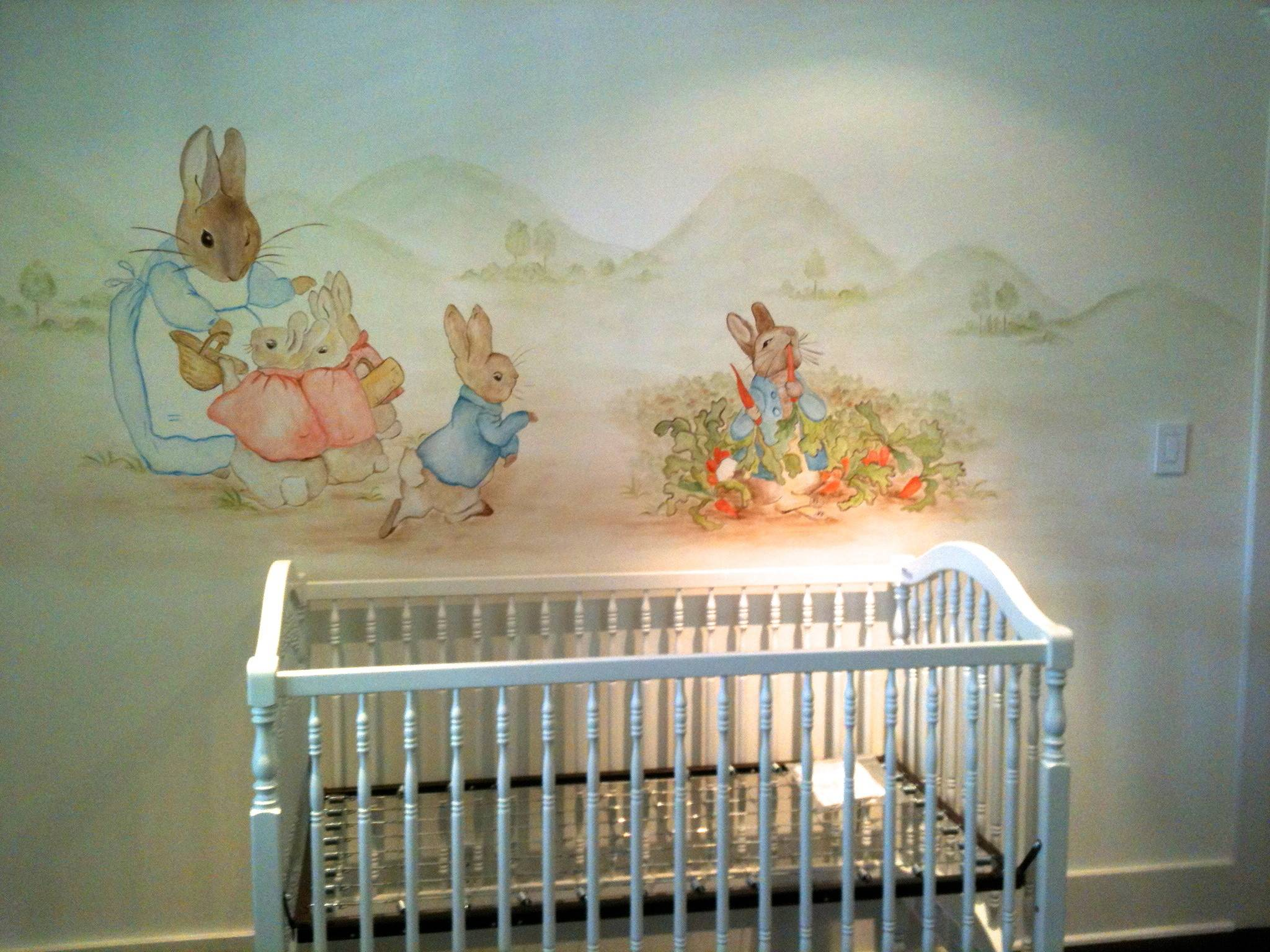 Peter Rabbit Mural Hand Painted Murals Children