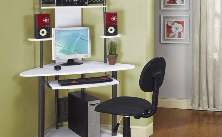 Pewter Finish Corner Workstation Kids Children Computer Desk