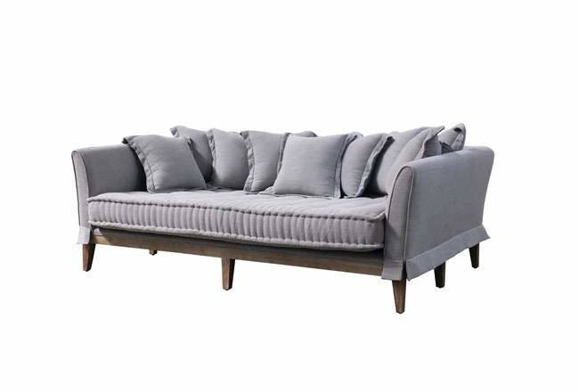 Pewter Linen Daybed Sofa Living Spaces