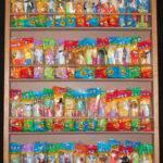 Pez Dispenser Display Case Holds Bags Door