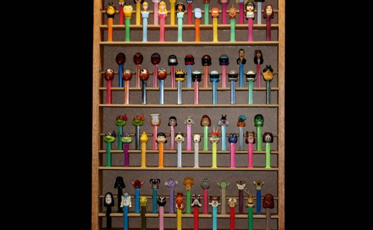 Pez Dispenser Display Case Holds Shipping