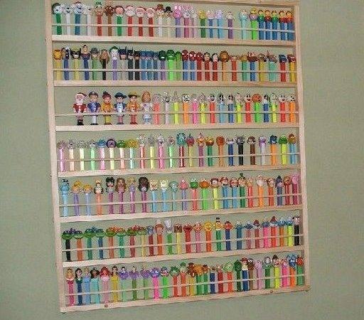 Pez Giant Display Shelf Rack Case Holds Ebay