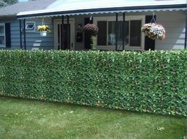 Photinia Hedge Artificial Plastic Fence Fake Garden Plants