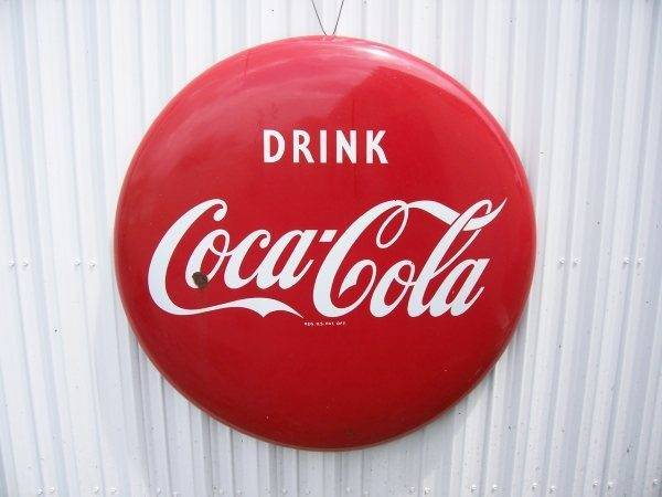Pics Photos Coca Cola Button Sign