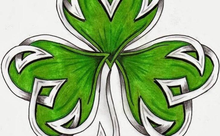 Pics Photos Irish Celtic Clover Tattoo Design