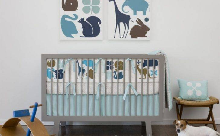 Pics Photos Modern Zoo Boy Crib Bedding Sets
