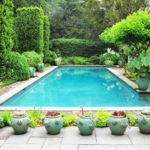 Pics Photos Potted Plants Around Swimming Pool