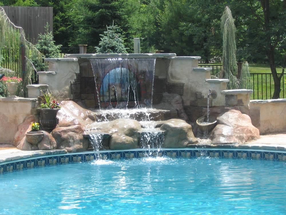 Pics Photos Swimming Pool Waterfalls