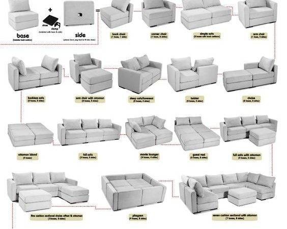 Piece Furniture Comes Apart Can Make Any Type Couch
