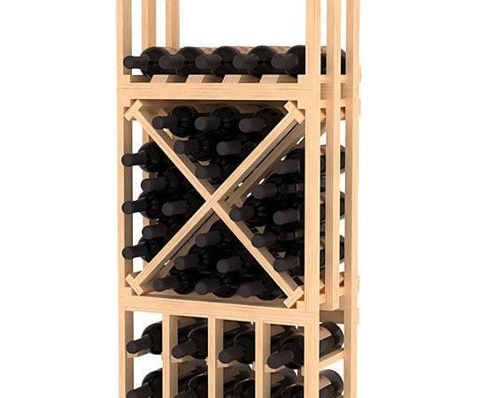 Piece Lattice Stacking Wine Storage Rack Kit Pine