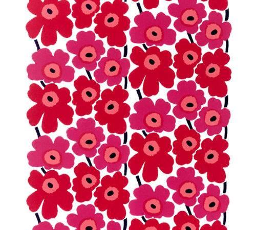 Pieni Unikko Canvas Fabric Marimekko Upholstery
