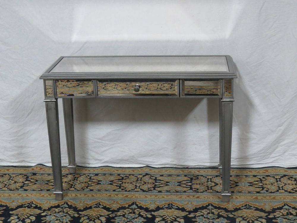 Pier One Mirrored Glass Vanity Desk Designer Ebay