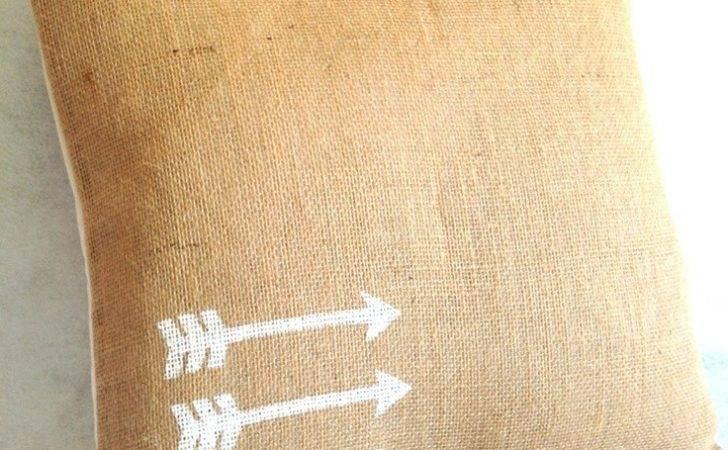 Pillow Burlap Pillows Home Ideas Diy Decor Covers