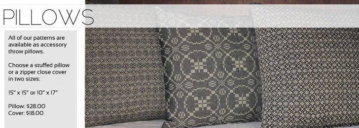 Pillows Prim Woven Fabrics Heirloom Weavers