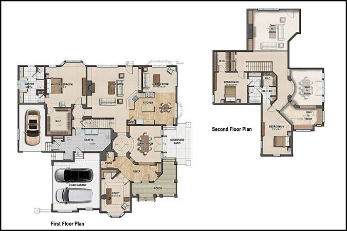 Pin Colored Floor Plans Pinterest