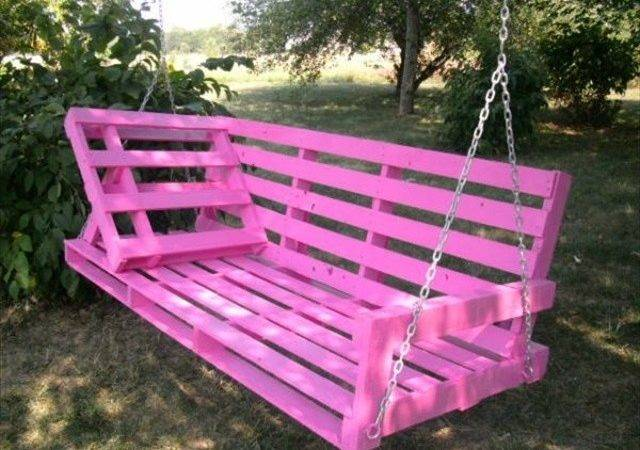 Pin Diy Pallet Swing Plans Chair Bed Amp Bench Pinterest